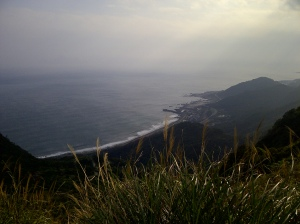 Watching Dali Beach from the hiking trail