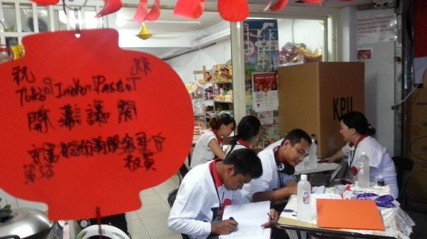 Suasana salah satu TPS di Taiwan